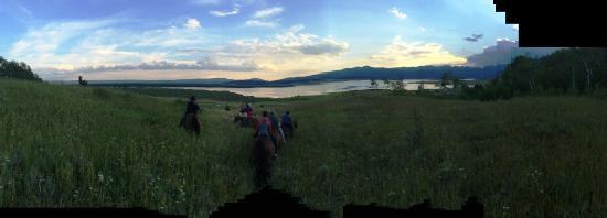 Parade Rest Ranch: Shot from horseback