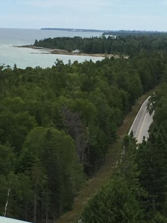 Presque Isle, MI: Photos taken from the top of the lighthouse and at the bottom