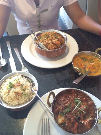 Chicken biryani and lamb jalfrezi picture of aroma for Aroma indian chinese cuisine