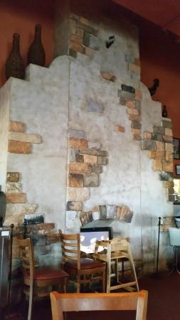The amazing faux fireplace that greets you when you first walk in palenque grill loop 20 the amazing faux fireplace that greets you when you first walk m4hsunfo
