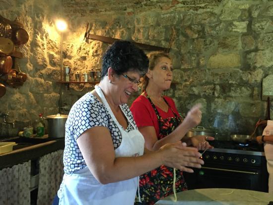 Ecco La Cucina: Cooking lesson in the mill.
