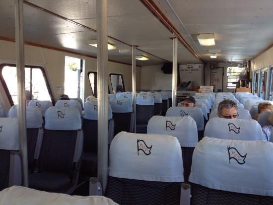 Freedom Cruise Line: Inside ferry boat