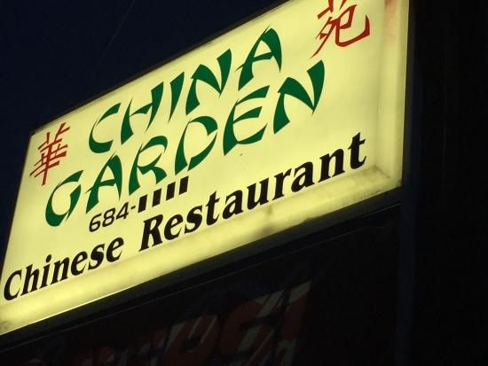 China Gardens: Sign out front