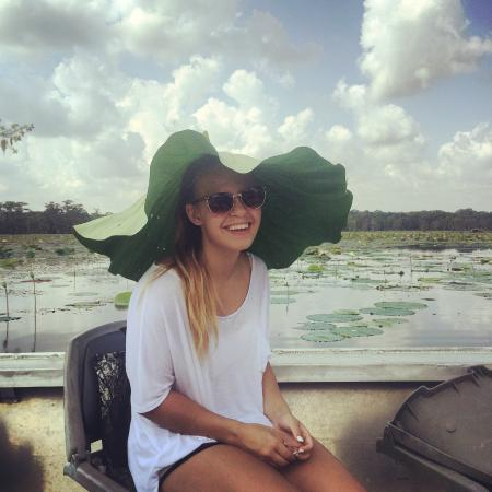 Lake Martin Rookery: lilly pad hat recommended by capt. allen