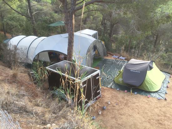 Camping Canyelles: Mijn infrastructuur.