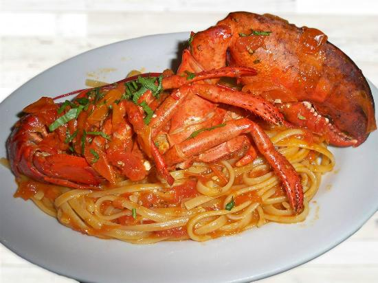 Spago': Lobster Linguine... August Special Dish ! Linguine con Aragosta o Astice... piatto speciale  Ago