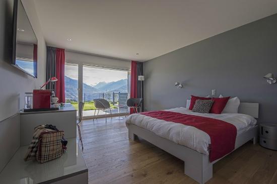 Saviese, Suíça: Chambre parentale avec chambre enfant séparé