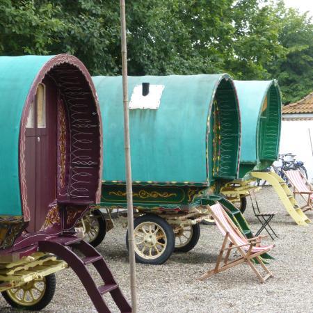 Abbekas, Szwecja: Wagons at Hotel Vagabond