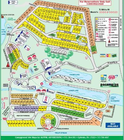 Friendship Village Campground: Site Map