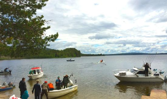 The boats heading out for our annual fishing competition