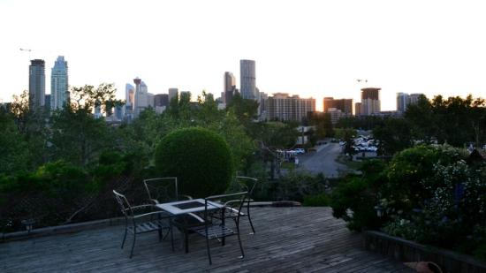 City Centre Riverpath Bed & Breakfast : View from the deck