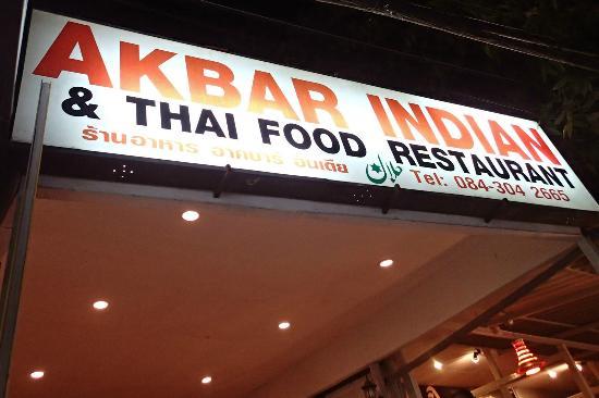 Akbar Indian and Thai Restaurant: Straßenansicht