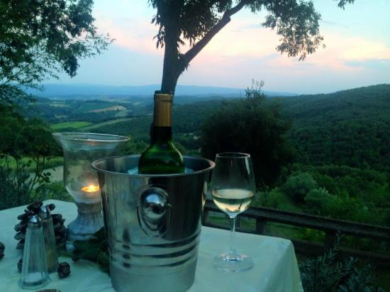 Domaine Michaud : View from our table