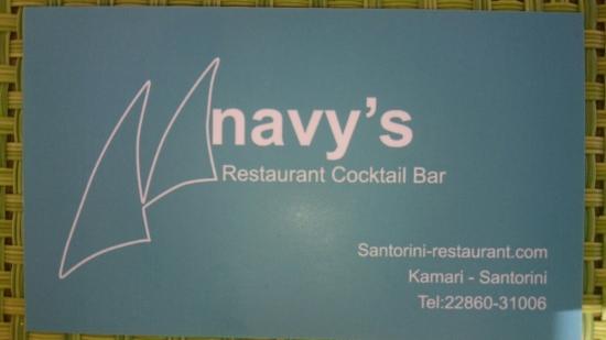 Navy's restaurant