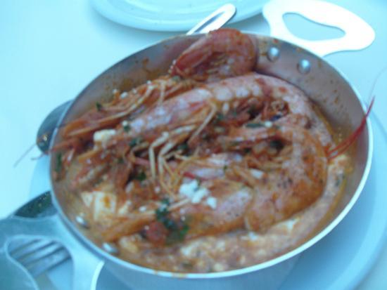 Lygia, Grekland: shrimps