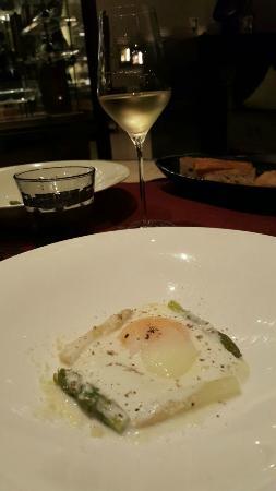 Jojo at The St. Regis Bangkok: Soft egg with asparagus, black truffles and taleggio sauce