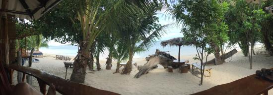 Shambhala Bungalow Village: view from beachfront bungalow