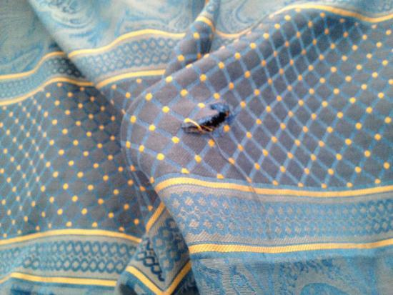 Ilusion Calma: l'état des chambre couvre lit troué!