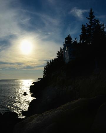 Acadia Pines Motel: Bass Harbor Lighthouse at dusk.
