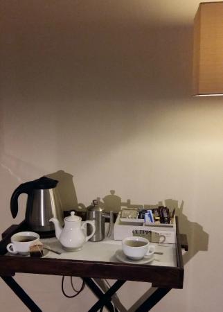 The Angel: tea tray