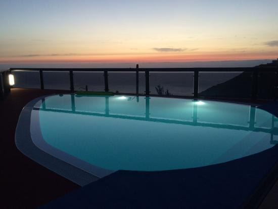 Faja da Ovelha, Portugal: de zonsondergang