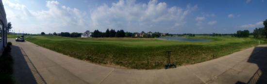 Winona Lake, Ιντιάνα: Stonehenge Golf Club - panoramic view of 9th hole