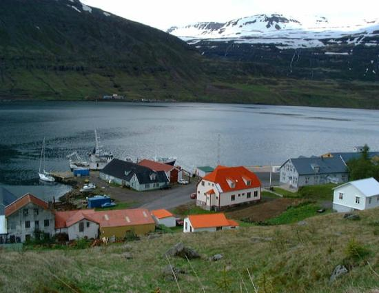 Seydisfjordur, Iceland: View from hill above the Technical Museum, Seyðisfjörður.
