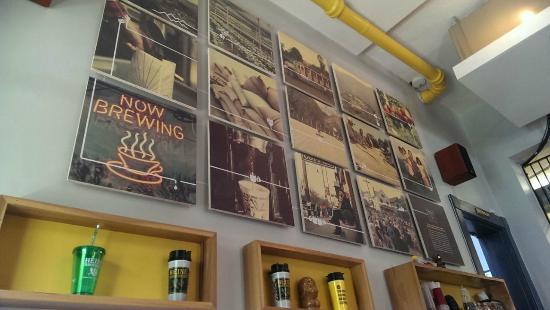 Heine Brothers' Coffee: Cool wall