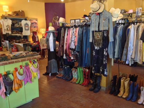 Tubac, AZ: Upscale resale (for humble snobs) clothing & accessories for cowgirls & cowgirl wannabes.  Name