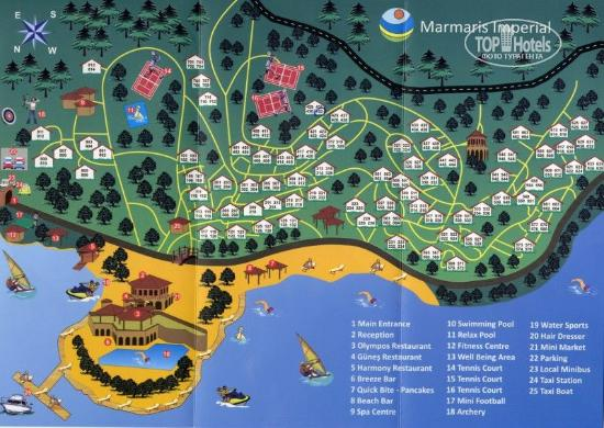Map of Marmaris Imperial hotel Picture of TUI BLUE Marmaris