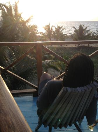 Colibri House: Watching the sunrise from the upstairs veranda. :)