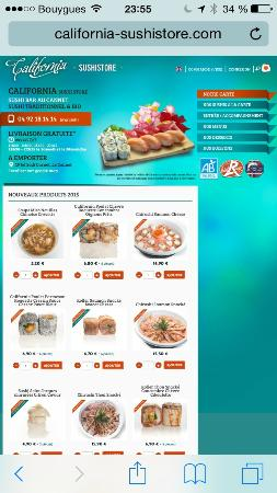 California sushistore : site internet
