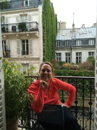 Hotel les Jardins du Luxembourg: Our balcony
