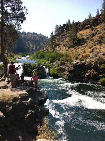 Crooked River Ranch, Oregón: Steelhead Falls, jump-off point