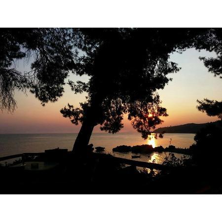 Villa Stasa Sea Bar: Sunset