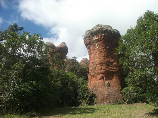 Parque Estadual de Vila Velha: Arenitos