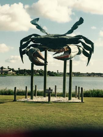 rockport beach crab statue