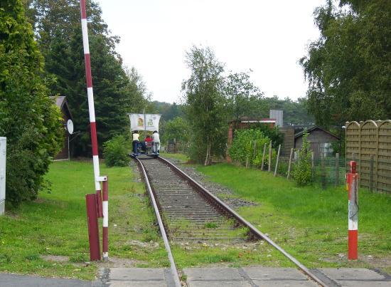 St. Michaelisdonn, Germany: Bahnübergang in Marne