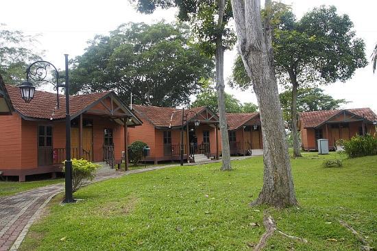De Palma Hotel Kuala Selangor: Landscape outside chalets