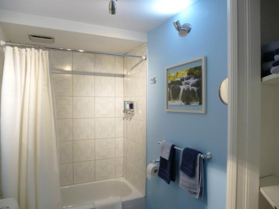 Gite Confort: bathroom with marine theme