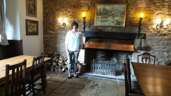Fireplace in the Pub area