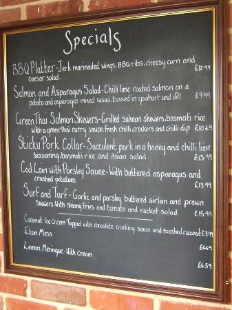 The Heath: Daily Special Menu in July 2015