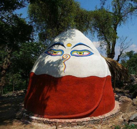 Mahadevi Ashram and Kaivalya Yoga School: Mahadevi Ashram's Dark Retreat Dome for advanced spiritual practice in complete darkness