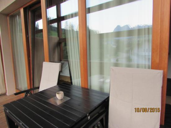 Lagacio Hotel Mountain Residence: outside porch.. we sat outside a lot looking at the view