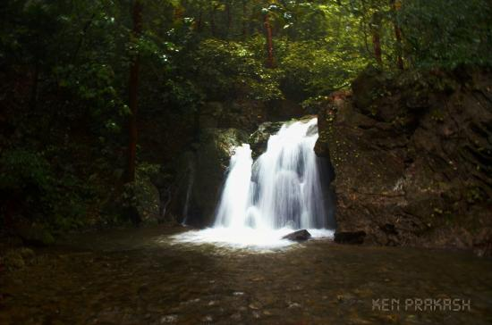 Aralam wildlife sanctuary: Waterfall inside forest, you will see many like this one