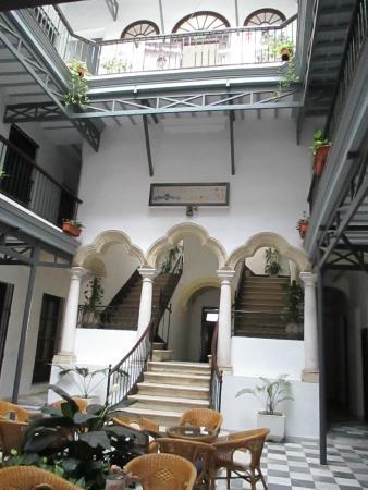 Apartamentos Larga 70: The patio seen from the reception
