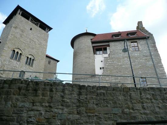 Treffurt, Tyskland: Burgansicht vom Osten