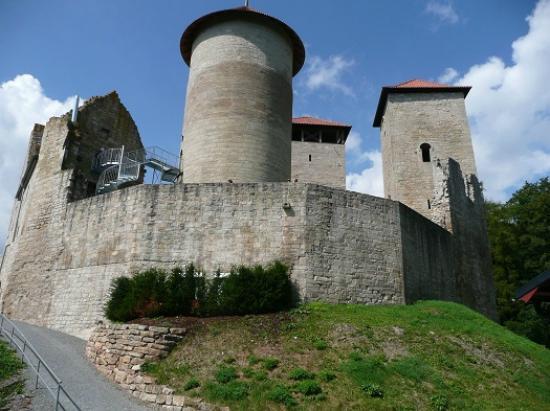 Treffurt, Tyskland: Burgansicht vom Westen