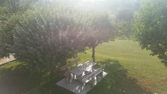 Pansion Vukovic : в садике есть где вечером посидеть и выпить вина, любуясь закатом