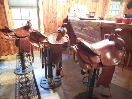 North Mountain Outfitter: elaborate bar stools